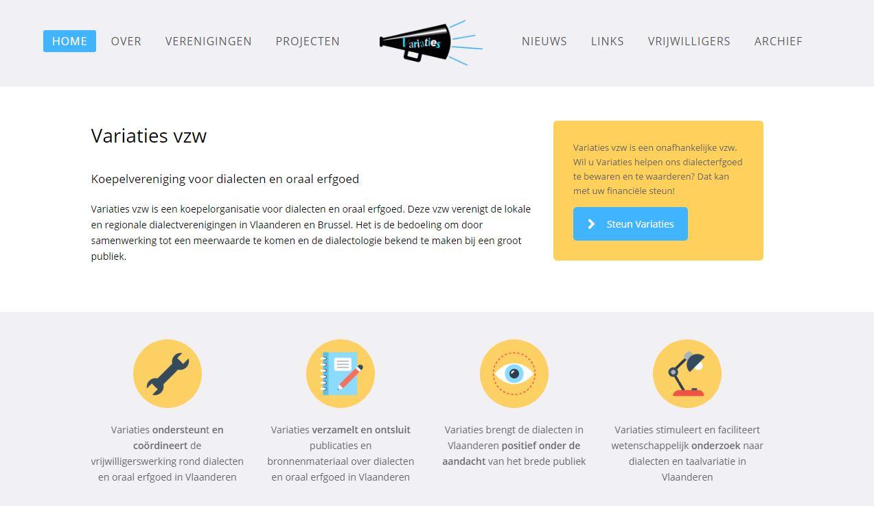 Variaties Homepage