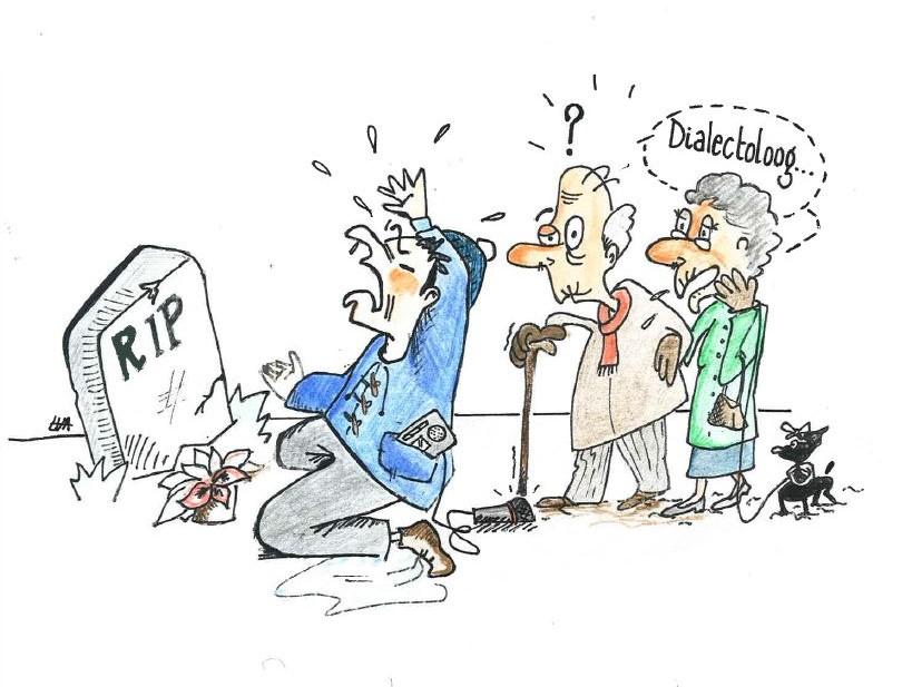 Cartoon Dialectoloog