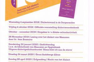 Jaar Van Het Dialect In Meeuwen-Gruitrode (2019-2020)
